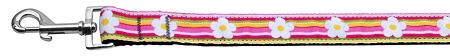 Striped Daisy Ribbon Dog Collars 1 Wide Leash-Dog Collars-Bella's PetStor