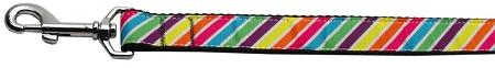 Striped Rainbow Nylon Dog Leash Inch Wide Long-DOGS-Bella's PetStor