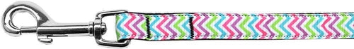 Summer Chevrons Nylon Ribbon Pet Leash Inch Wide Lsh-Dog Collars-Bella's PetStor