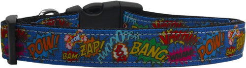Superhero Sound Effects Nylon Dog Collar-DOGS-Bella's PetStor