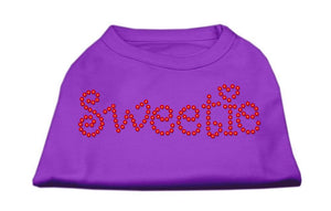 Sweetie Rhinestone Shirts Purple-Dog Clothing-Bella's PetStor