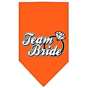 Team Bride Screen Print Bandana Orange Small-Team bride screen print bandana new pet products-Bella's PetStor