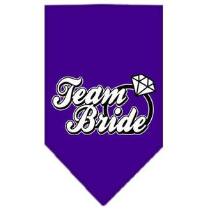 Team Bride Screen Print Bandana Purple Small-Team bride screen print bandana-Bella's PetStor