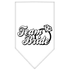Team Bride Screen Print Bandana White Small-Team bride screen print bandana-Bella's PetStor