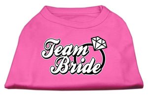 Team Bride Screen Print Shirt-Dog Clothing-Bella's PetStor