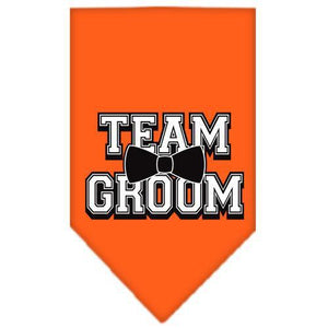 Team Groom Screen Print Bandana Orange Small-Team groom screen print bandana new pet products-Bella's PetStor