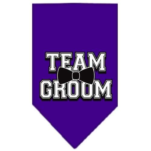 Team Groom Screen Print Bandana Purple Large-Team groom screen print bandana-Bella's PetStor