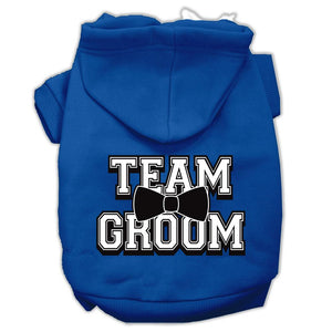 Team Groom Screen Print Pet Hoodies Size-Dog Clothing-Bella's PetStor