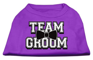 Team Groom Screen Print Shirt-Dog Clothing-Bella's PetStor