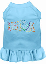 Load image into Gallery viewer, Technicolor Diva Rhinestone Pet Dress Baby Blue-Dog Clothing-Bella's PetStor