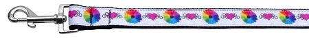 Technicolor Love Nylon Dog Leash Inch Wide Long-Dog Collars-Bella's PetStor