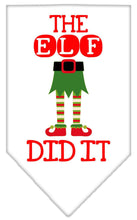 Load image into Gallery viewer, The Elf Did It Screen Print Bandana-Christmas, Hannakuh-Bella's PetStor