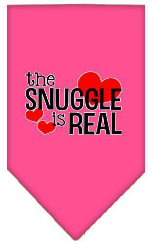 The Snuggle Is Real Screen Print Bandana-Valentines-Bella's PetStor