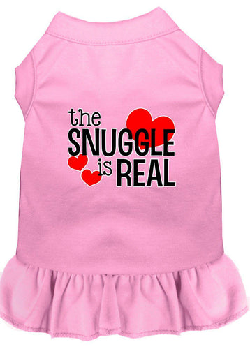 The Snuggle Is Real Screen Print Dog Dress-Valentines-Bella's PetStor