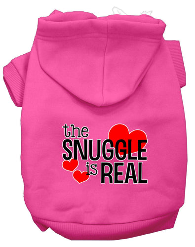 The Snuggle Is Real Screen Print Dog Hoodie-Valentines-Bella's PetStor