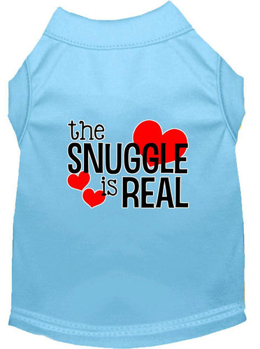 The Snuggle Is Real Screen Print Dog Shirt-Valentines-Bella's PetStor