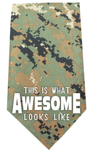 This Is What Awesome Looks Like Screen Print Bandana-Dog Clothing-Bella's PetStor