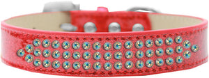 Three Row Ab Crystal Ice Cream Dog Collar Size-General-Bella's PetStor