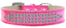 Load image into Gallery viewer, Three Row Ab Crystal Ice Cream Dog Collar Size-General-Bella's PetStor