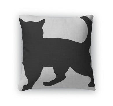 Throw Pillow, Cat Silhouette-Throw Pillow-Bella's PetStor