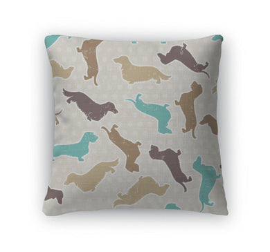 Throw Pillow, Dachshunds Varieties Pattern-Throw Pillow-Bella's PetStor