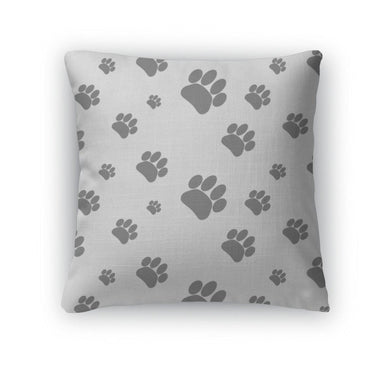 Throw Pillow, Patter Foot Print Dog-Throw Pillow-Bella's PetStor