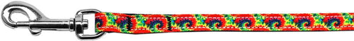 Tie Dye Nylon Ribbon Pet Leash Inch Wide Lsh-Dog Collars-Bella's PetStor
