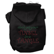 Load image into Gallery viewer, Tinsel In A Tangle Rhinestone Hoodies-Dog Clothing-Bella's PetStor