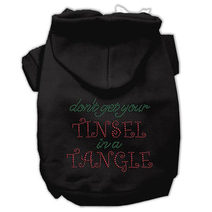 Tinsel In A Tangle Rhinestone Hoodies-Dog Clothing-Bella's PetStor