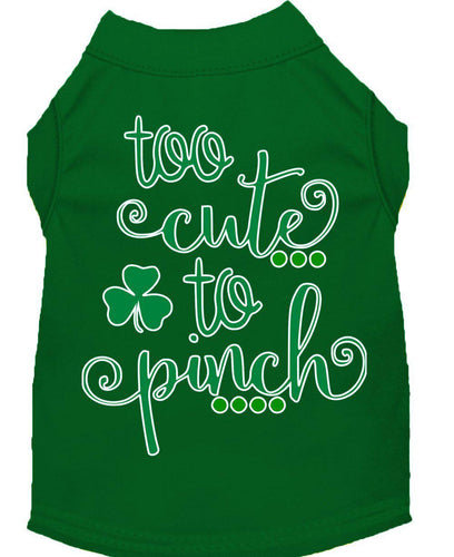 Too Cute To Pinch Screen Print Dog Shirt-St. Patricks Day-Bella's PetStor