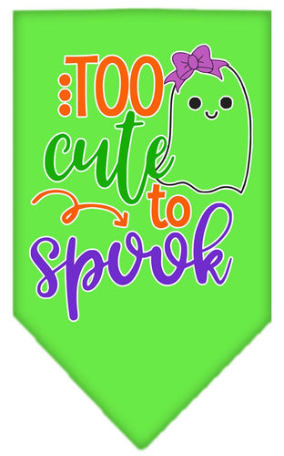 Too Cute To Spook-girly Ghost Screen Print Bandana-Holidays-Bella's PetStor