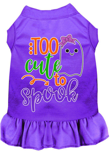 Too Cute To Spook-girly Ghost Screen Print Dog Dress-Holidays-Bella's PetStor