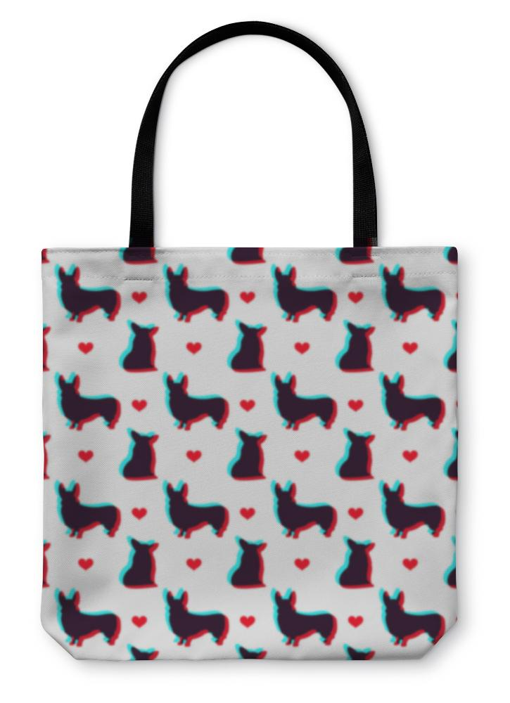 Tote Bag, Corgi Dog With 3d Effect Pattern For Use In Design-Tote Bag-Bella's PetStor