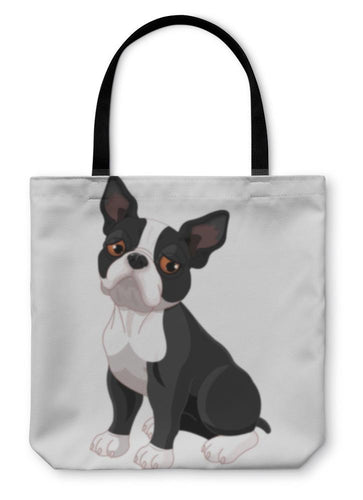Tote Bag, Cute Boston Terrier-Tote Bag-Bella's PetStor
