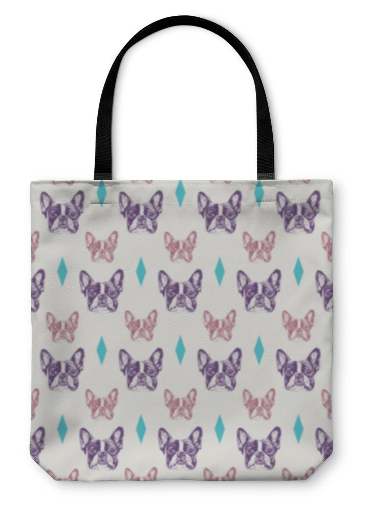 Tote Bag, French Bulldog Pattern-Tote Bag-Bella's PetStor