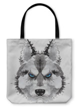 Load image into Gallery viewer, Tote Bag, Husky Dog Painted Watercolor Illustration-Tote Bag-Bella's PetStor