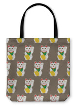Load image into Gallery viewer, Tote Bag, Lucky Cats Pattern-Tote Bag-Bella's PetStor