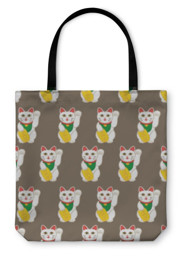 Tote Bag, Lucky Cats Pattern-Tote Bag-Bella's PetStor