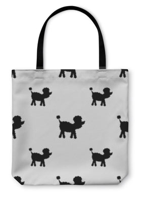 Tote Bag, Poodle Dog Silhouette In Black And White-Tote Bag-Bella's PetStor