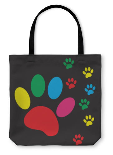 Tote Bag, Silhouette Dog Paw-Tote Bag-Bella's PetStor