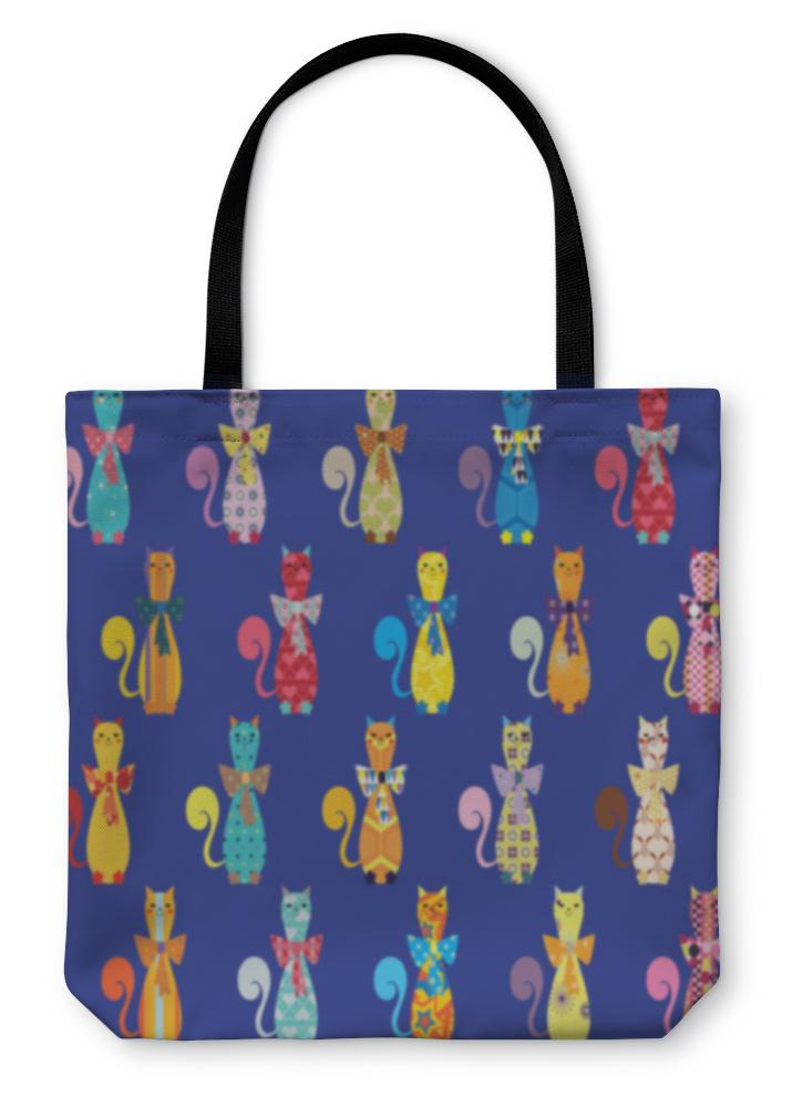 Tote Bag, With Decorative Elegant Cats-Tote Bag-Bella's PetStor