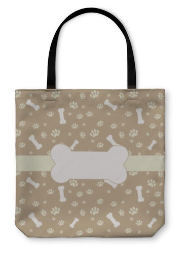 Tote Bag, With Dog Paw Print And Bone-Tote Bag-Bella's PetStor