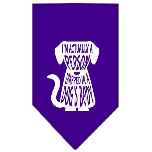 Trapped Screen Print Bandana Purple Small-Trapped screen print bandana-Bella's PetStor