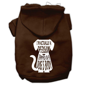 Trapped Screen Print Pet Hoodies Size-Dog Clothing-Bella's PetStor