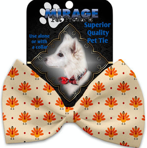 Turkey Trot Pet Bow Tie Collar Accessory With Velcro-Thanksgiving-Bella's PetStor
