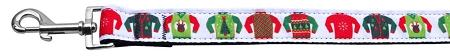 Ugly Sweater Nylon Ribbon Collars 1 Wide Leash-Dog Collars-Bella's PetStor