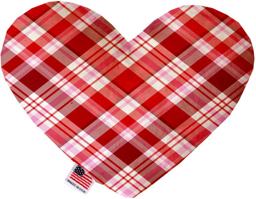 Valentines Day Plaid Inch Canvas Heart Dog Toy-Made in the USA-Bella's PetStor
