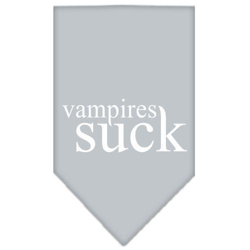 Vampires Suck Screen Print Bandana Grey Small-Vampires suck screen print bandana halloween-Bella's PetStor
