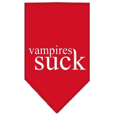 Vampires Suck Screen Print Bandana Red Small-Vampires suck screen print bandana halloween-Bella's PetStor