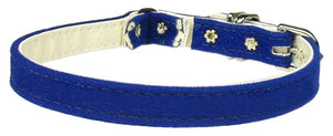 "Velvet 3/8"" Plain Cat Collar W/ Band-CATS-Bella's PetStor"
